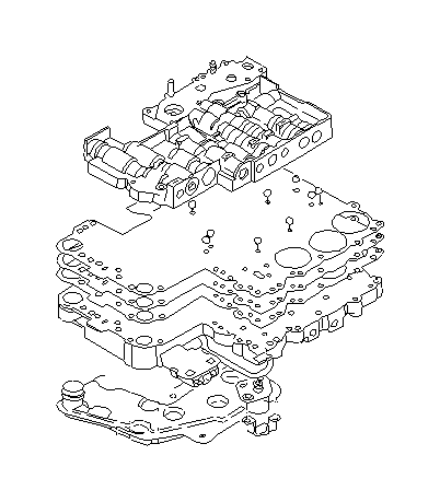 Subaru SVX Gasket-separator, upper. Control, valve