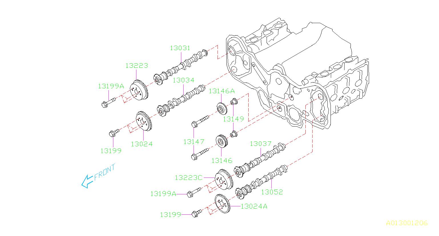 Subaru Outback Engine Crankshaft Pulley Bolt. Engine