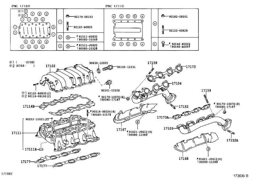 Toyota Tundra Bolt, stud(for manifold to cylinder head