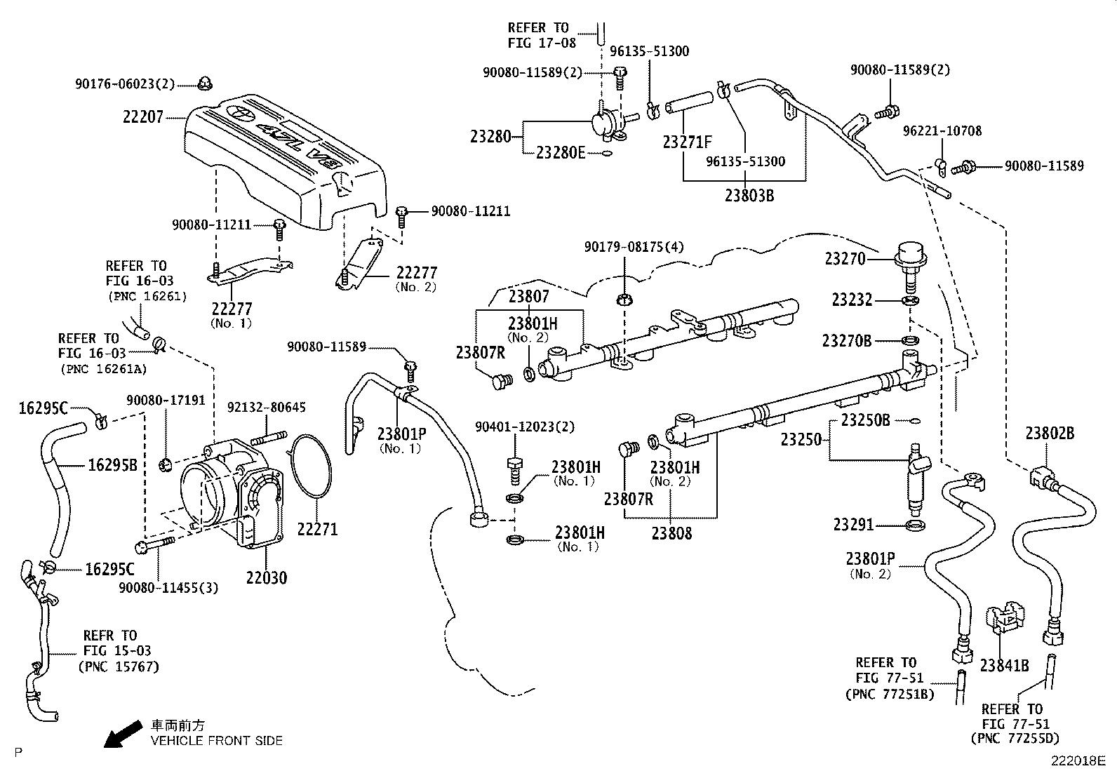 Toyota Tundra Clamp, fuel pipe, no. 2(for efi). System