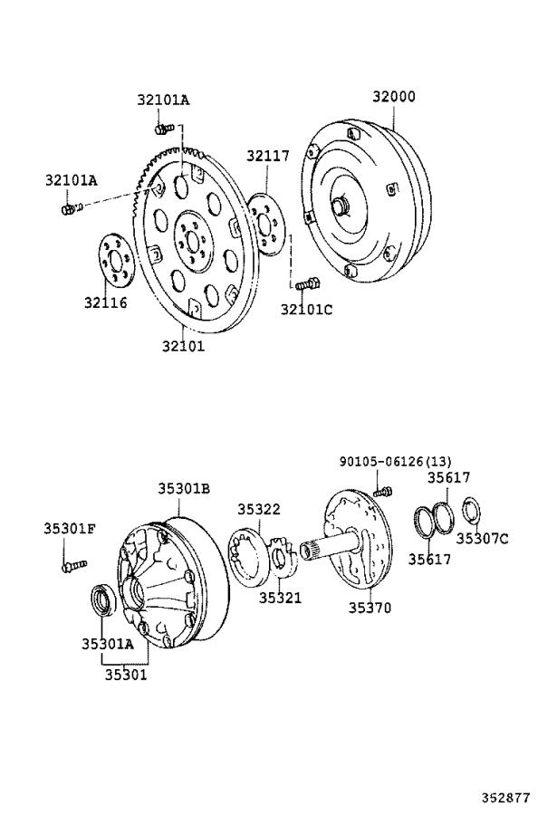 Toyota Sequoia Converter assembly, torque. Transmission