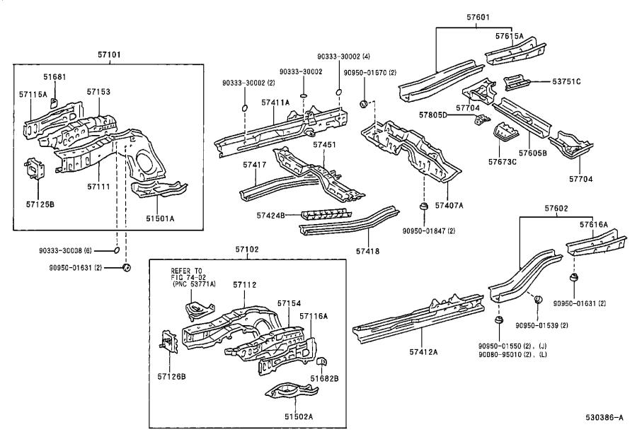 Toyota Corolla Frame Rail End (Right, Front