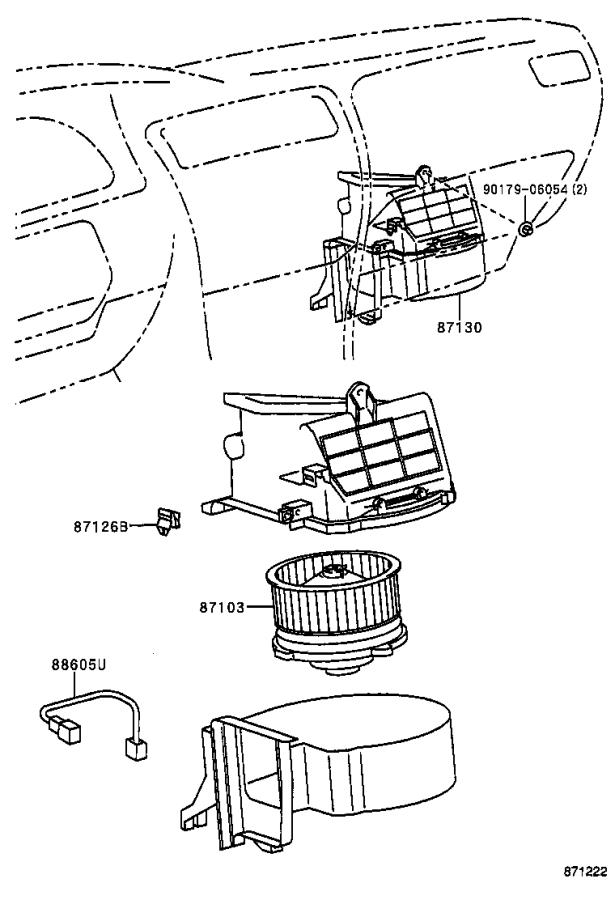 Toyota Corolla Duct sub-assembly, air. Electrical