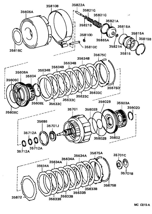 Toyota 4Runner Drum sub-assembly, rear clutch with 2nd sun