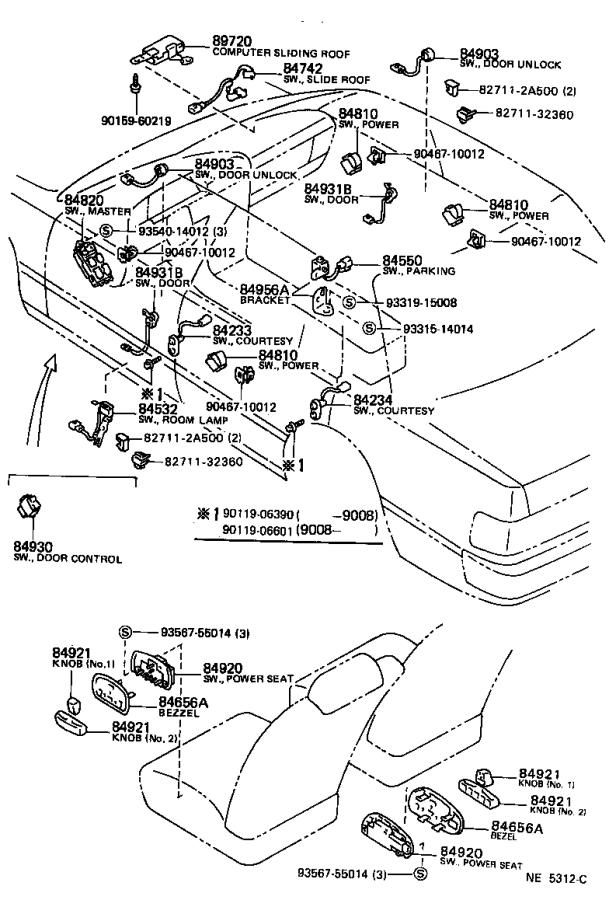 Toyota Cressida Breaker assembly. Wiring circuit, no. 1