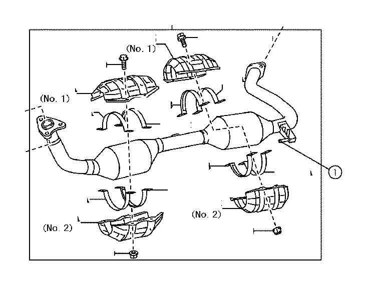 Toyota Tundra Catalytic Converter (Front). Pipe, Exhaust
