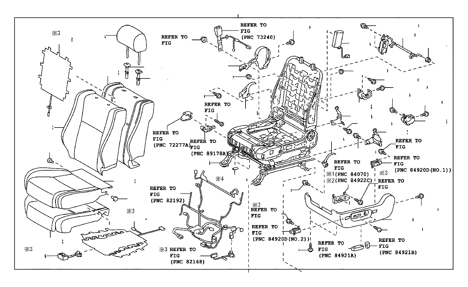 Toyota Tundra Frame assembly, front seat with adjuster