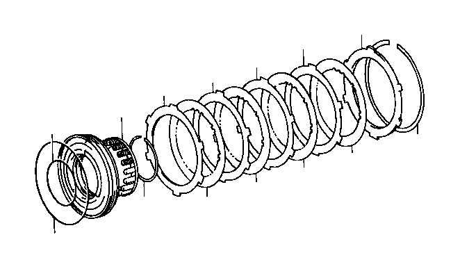 Toyota T100 Spring sub-assembly, direct clutch return