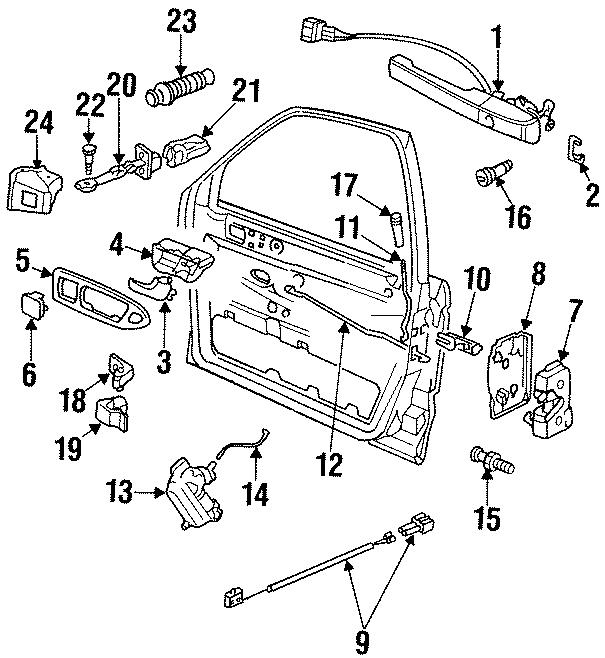 1996 Volkswagen Passat Lock cylinder. Corrado, Passat