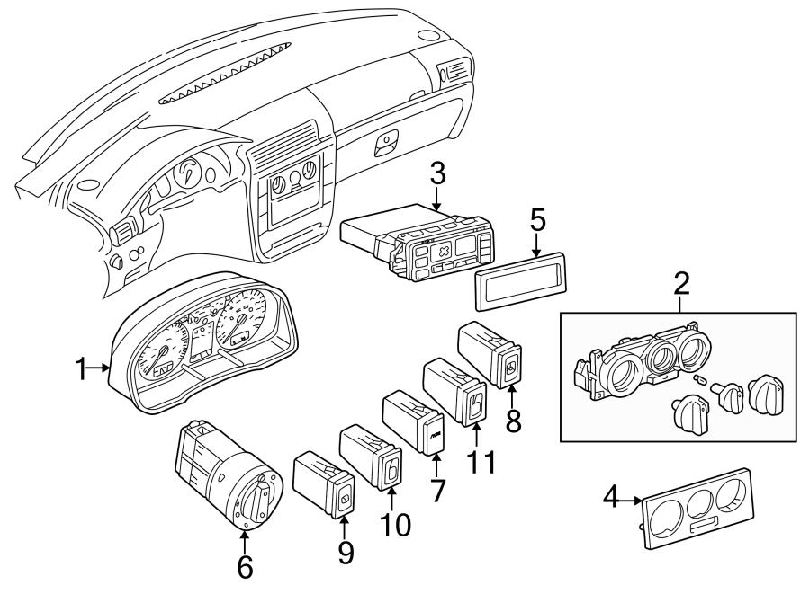 2001 Volkswagen Passat Instrument Cluster. Manual trans, 1