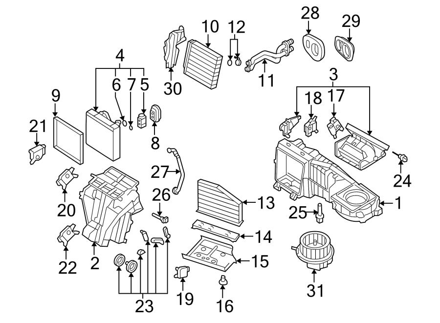 Volkswagen Rabbit Adjust motor. HVAC Blend Door Actuator