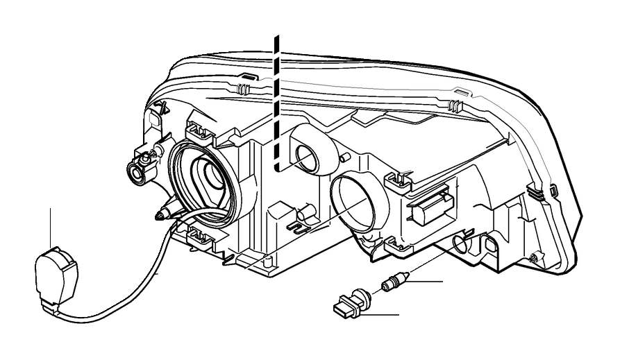 2001 Volvo High Intensity Discharge (HID) Headlight