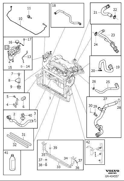 Volvo XC60 Engine Coolant Recovery Tank Screw. Flange