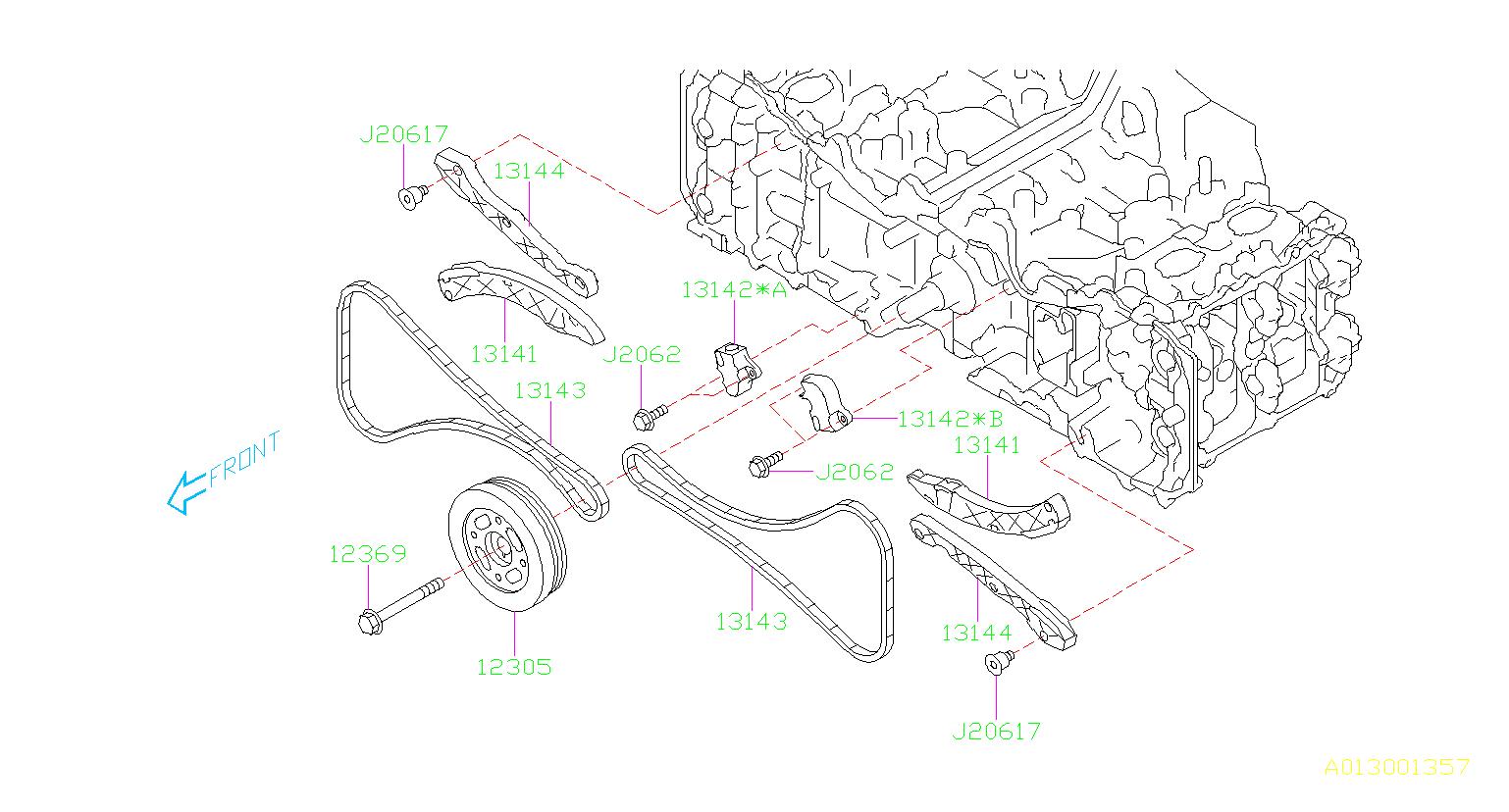 Subaru Legacy Chain-timing. Belt, camshaft, engine