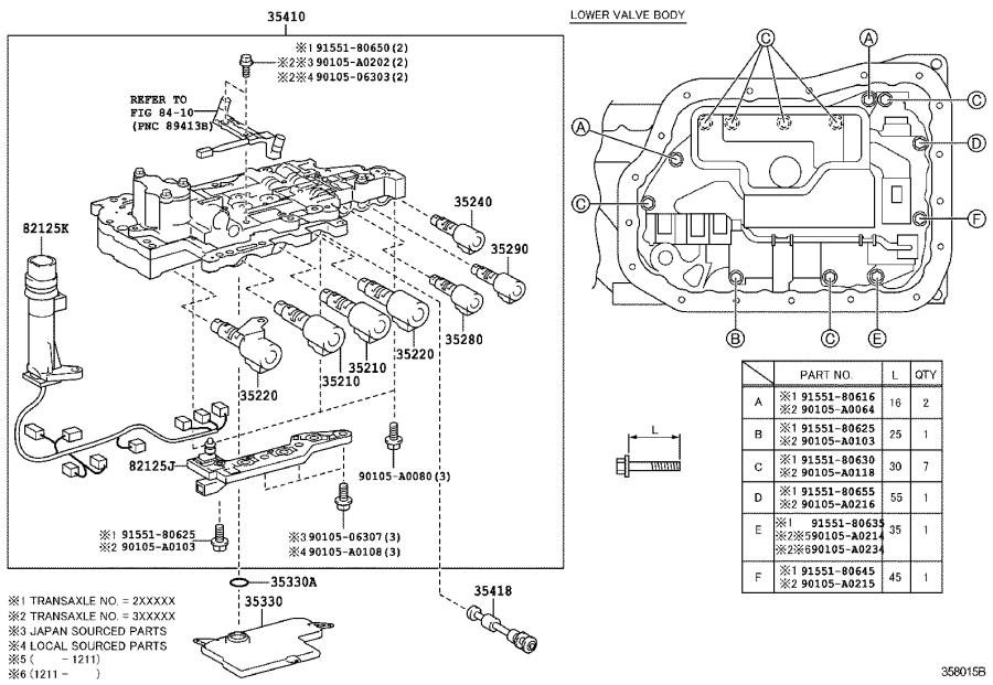 Toyota Camry Plate, solenoid lock, no. 3. Transmission