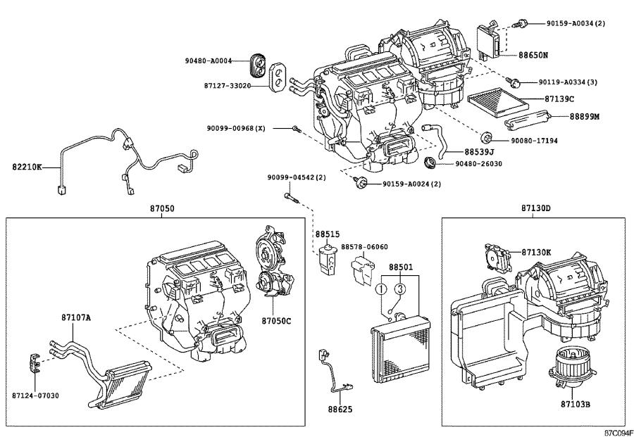 Toyota Camry Amplifier assembly, air conditioner