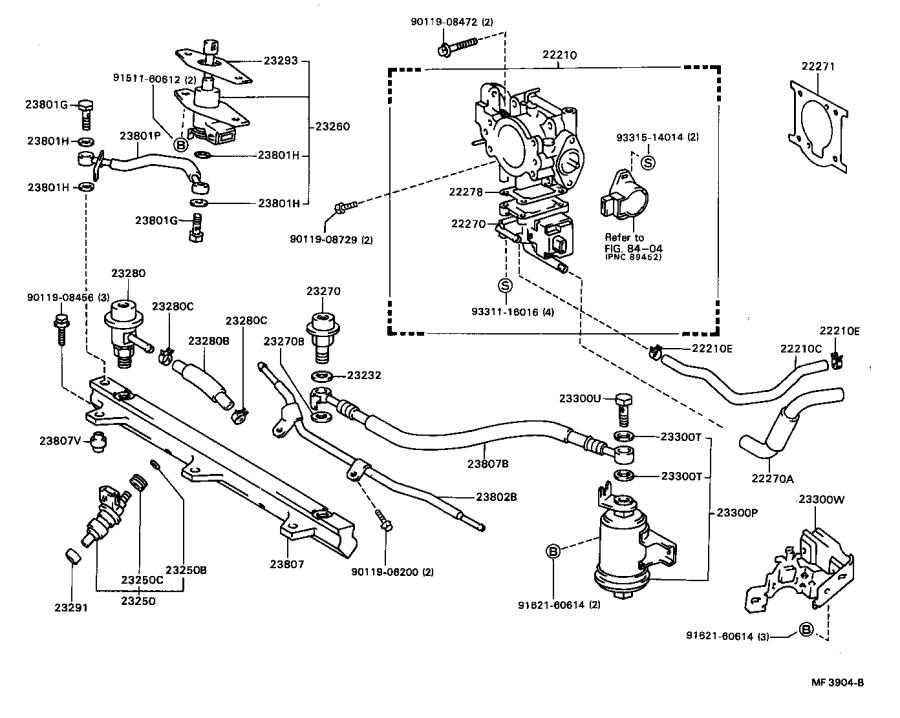 Toyota Celica Tube sub-assembly, fuel pump. System
