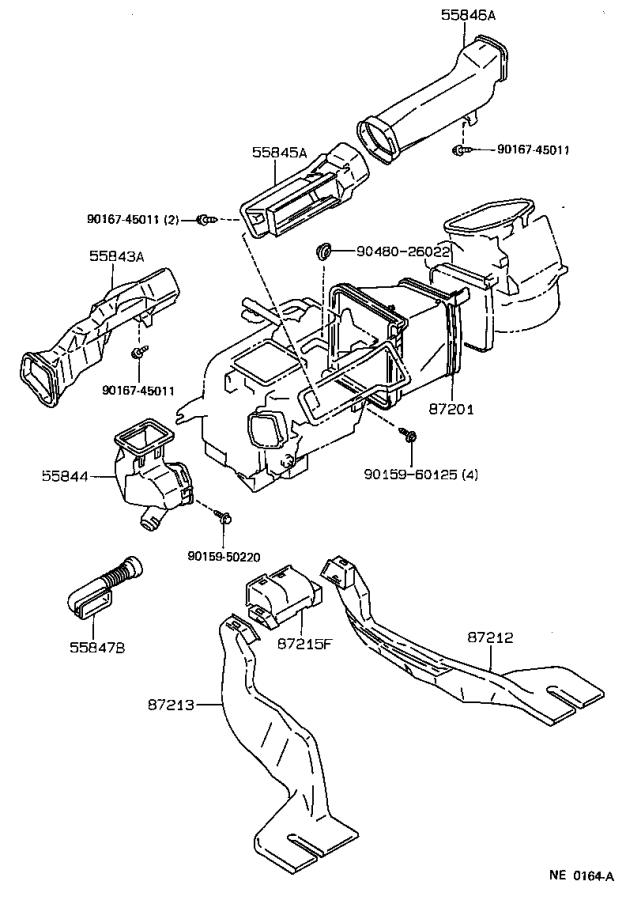 Toyota Corolla Cable sub-assembly, air inlet damper