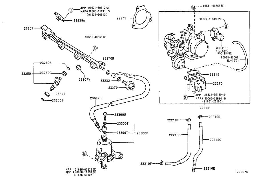 Toyota Camry Fuel Injection Throttle Body. SYSTEM, Make