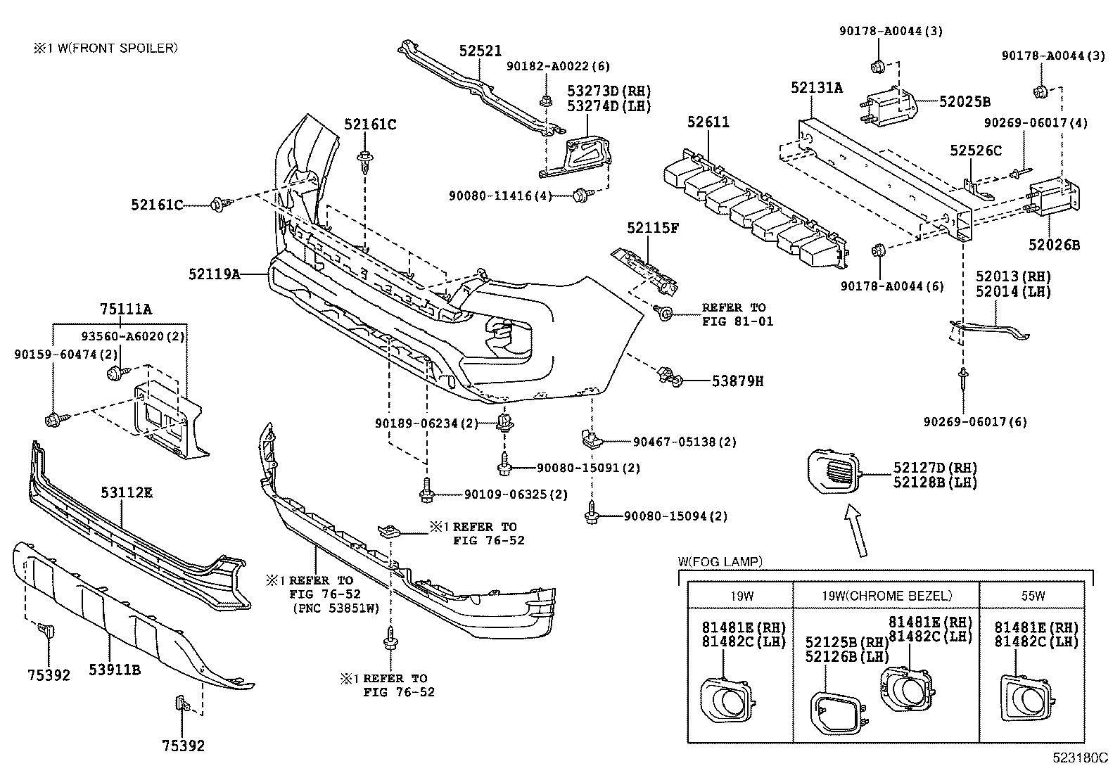 Toyota Tacoma Extension Sub Assembly Front Bumper No 2