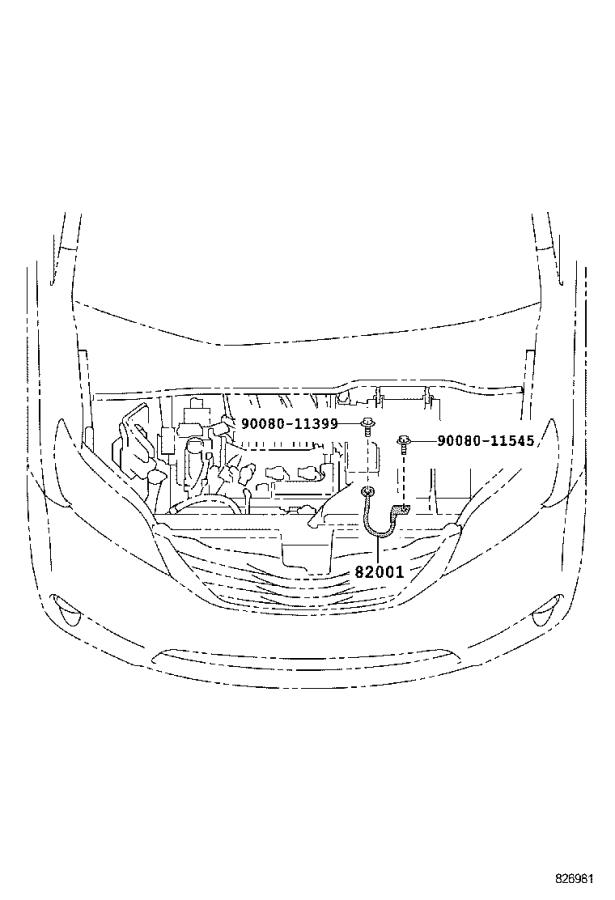 Toyota Sienna Wire, instrument panel. Engine, room, clamp