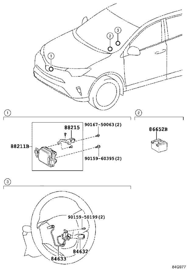 Toyota RAV4 Wire, cruise control switch. Electrical