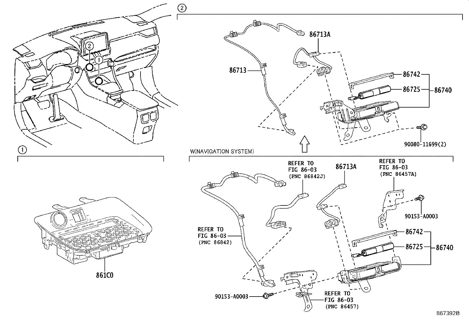 Toyota RAV4 Cradle assembly, mobile wireless charger
