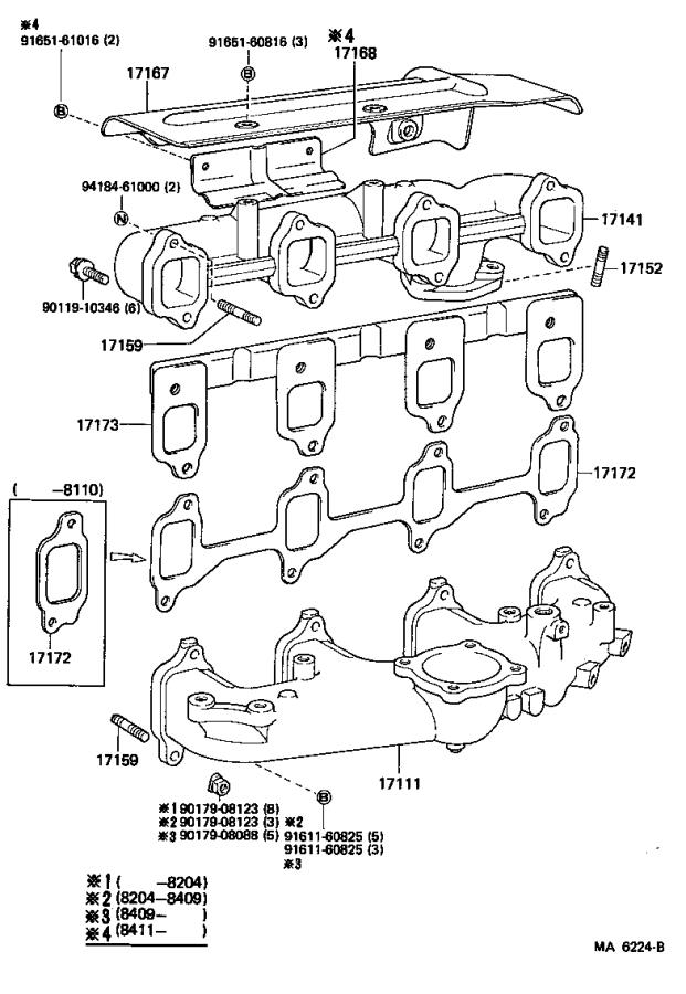 Toyota Land Cruiser Bolt, stud(for manifold to exhaust