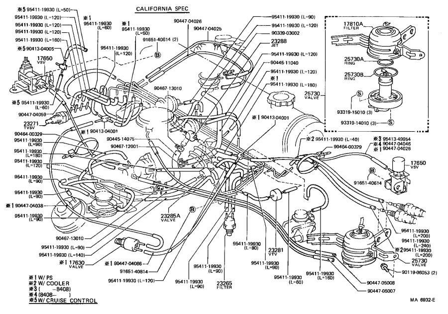 Toyota Corolla Valve assembly, air control. Usa, engine