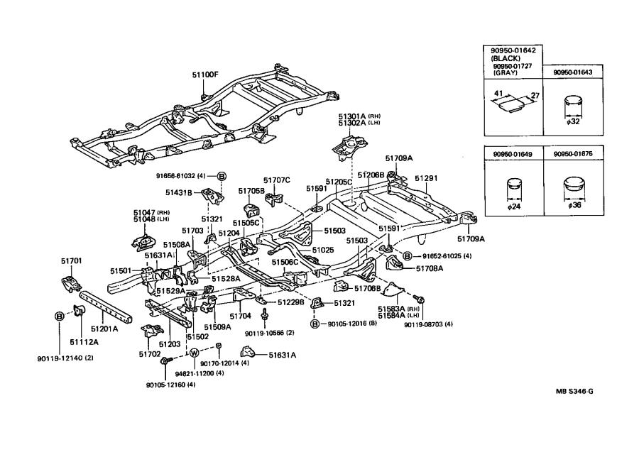 Toyota Truck Crossmember sub-assembly, frame auxiliary