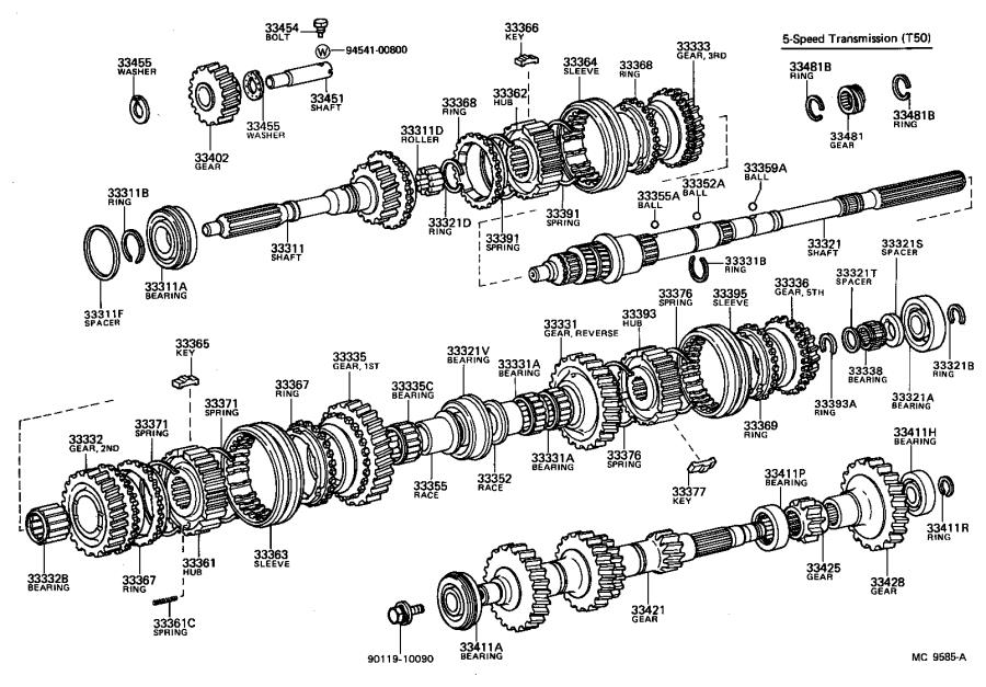 Toyota Corolla Bearing (for output shaft rear