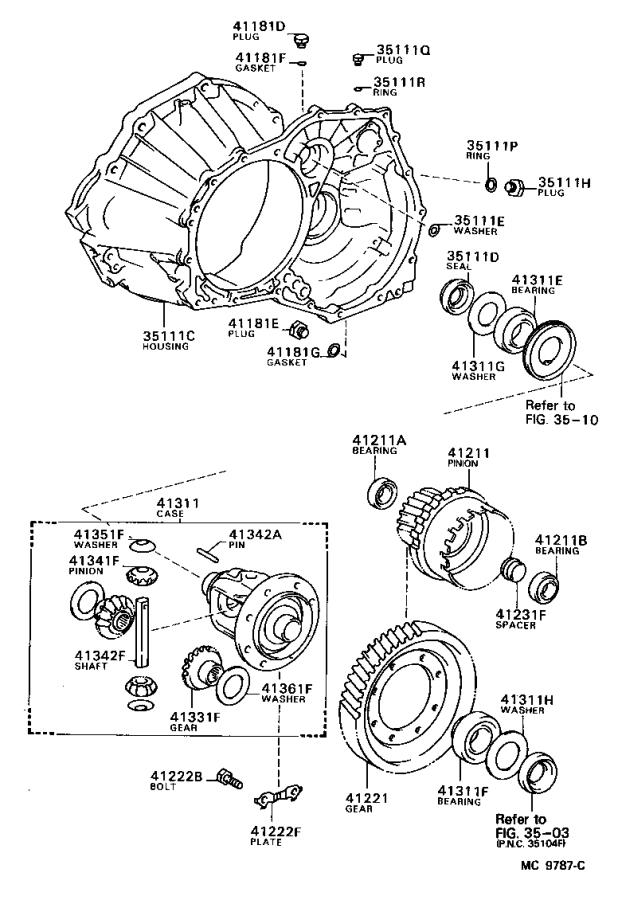 Toyota Corolla Automatic Transmission Differential Carrier