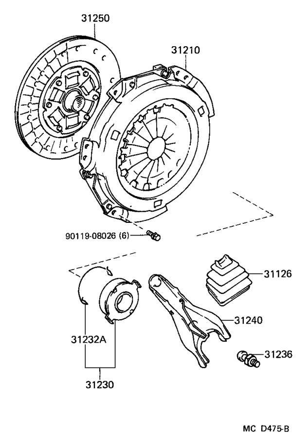 Toyota MR2 Clutch Release Arm. Fork, Clutch Release