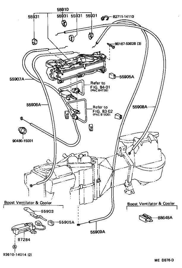 Toyota 4Runner Cable sub-assembly, defroster damper