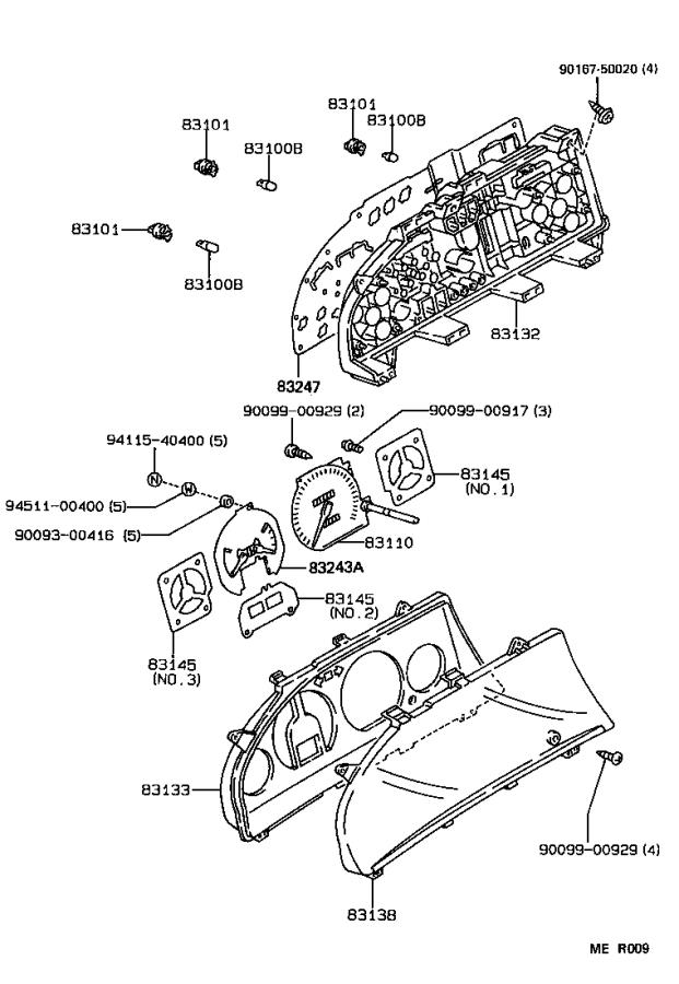 Toyota Corolla Cable assembly, speedometer drive, no. 1