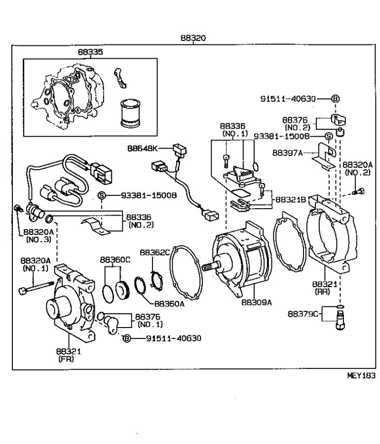 Toyota Tercel Wire, compressor. Electrical, conditioning