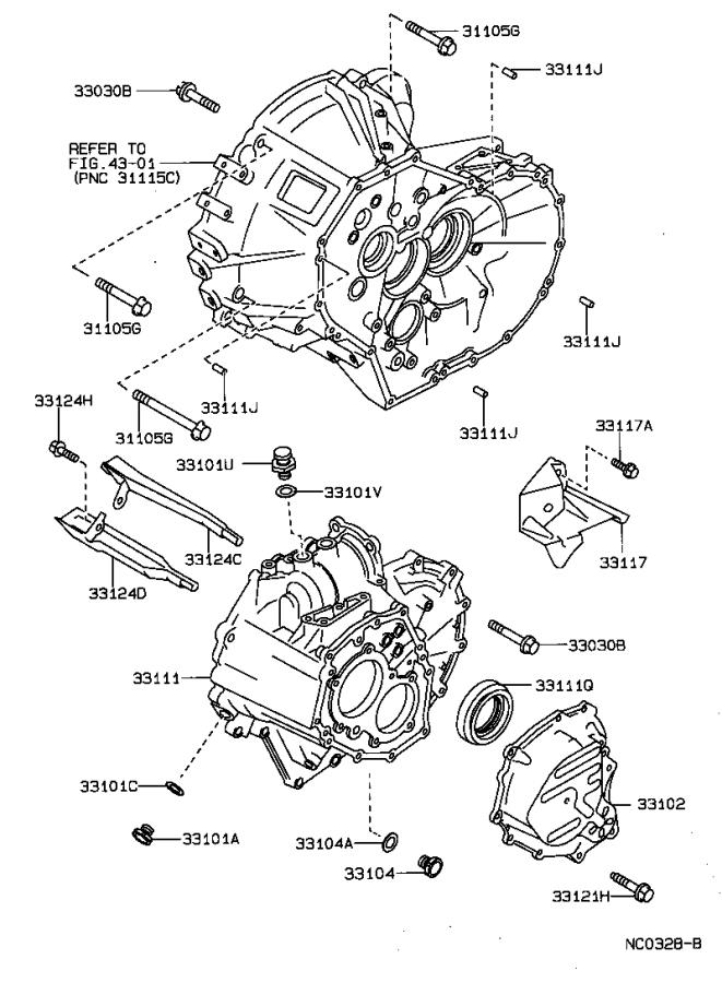 Toyota Corolla Protector, manual transmission case
