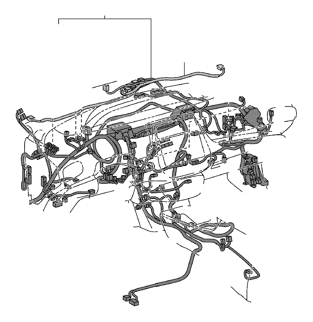 Toyota Prius Wire, instrument panel. System, connecter