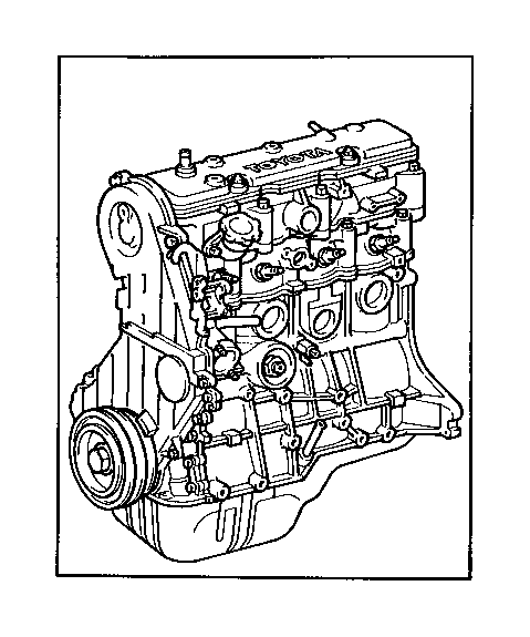 Toyota Celica Engine assembly, partial. Components