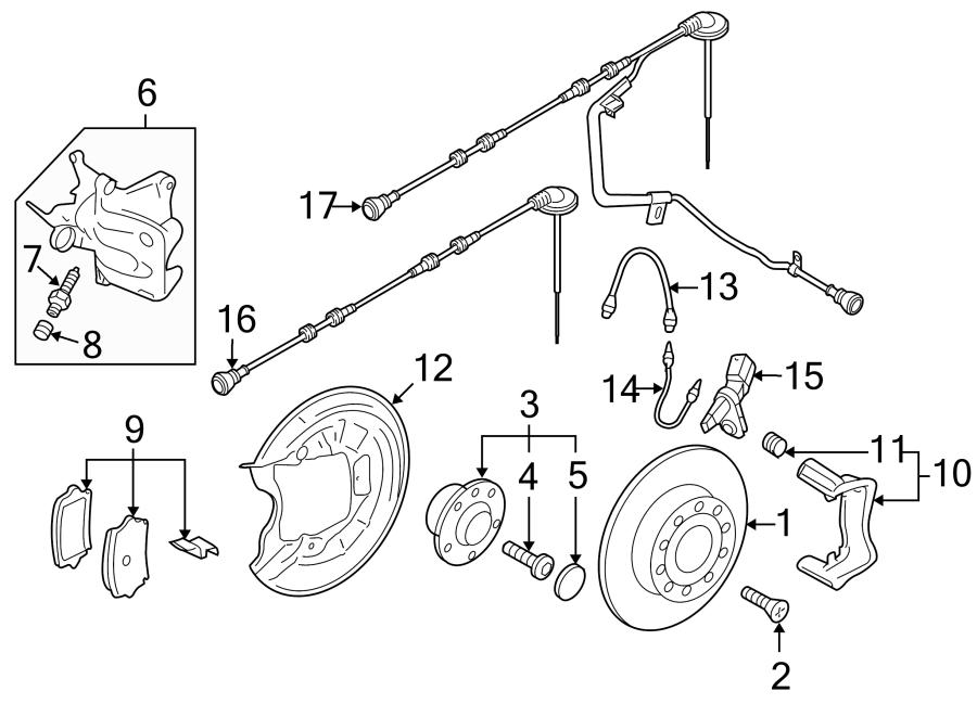Volkswagen Passat Abs wheel speed sensor wiring harness