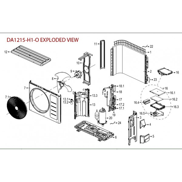 Holder for Electrical Control Box for DA1215-OUTDOOR