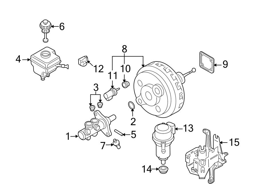 2006 Volkswagen Touareg Power Brake Booster Vacuum Pump