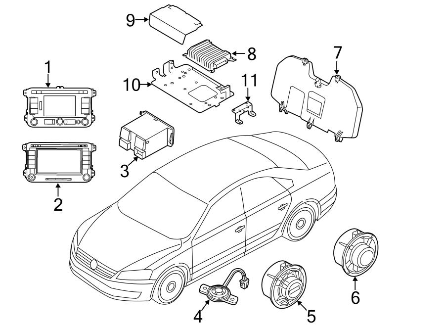 2015 Volkswagen Passat Radio Control Unit. New