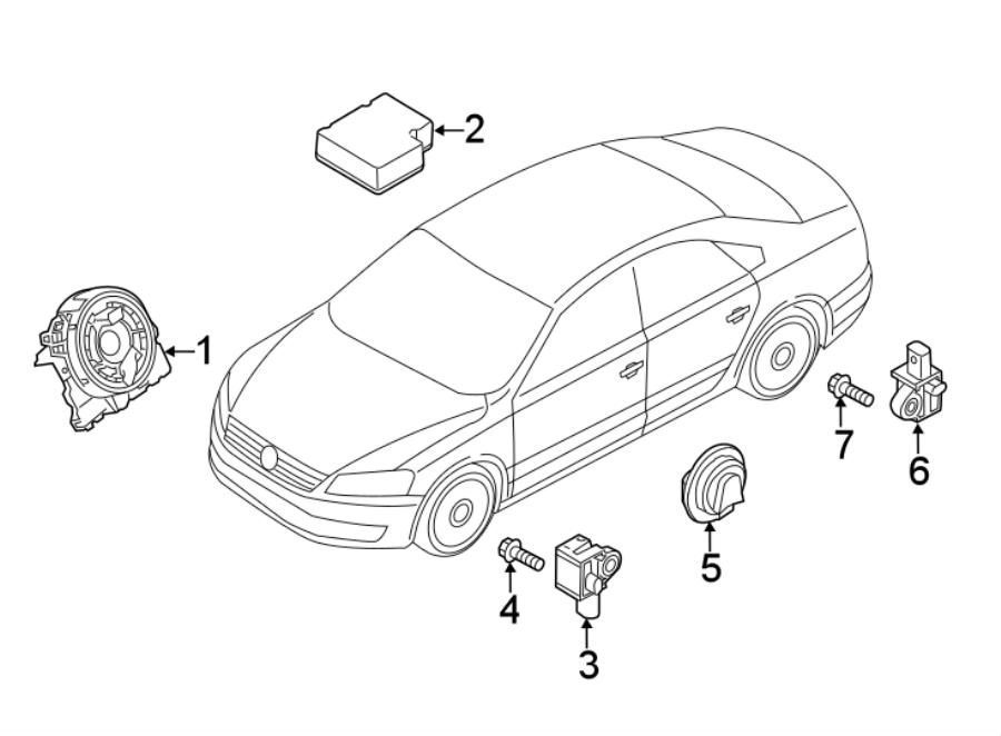 2017 Volkswagen Passat Air Bag Impact Sensor (Front