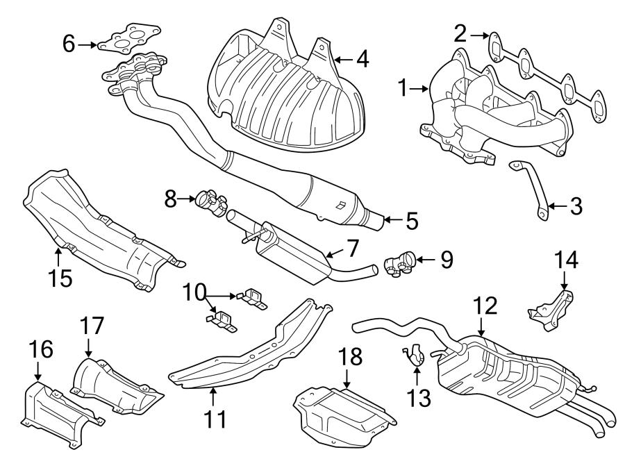 Volkswagen Jetta Exhaust Muffler (Rear). Jetta; Rear; 2.0L