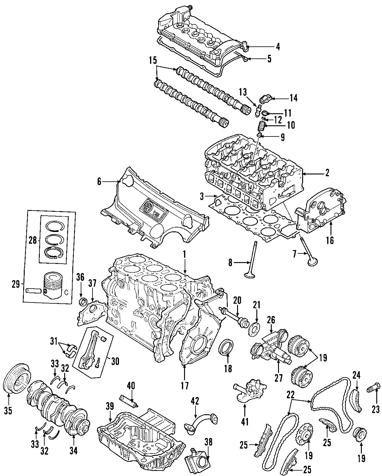Volkswagen Golf Engine Valve Cover 3 2 Liter R32