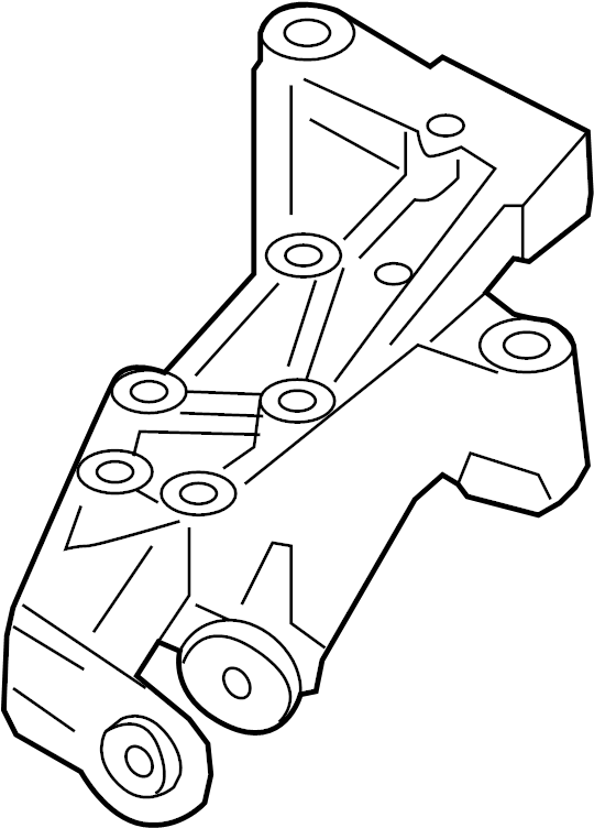 2012 Volkswagen SportWagen Mount bracket. MOUNTING BRACKET