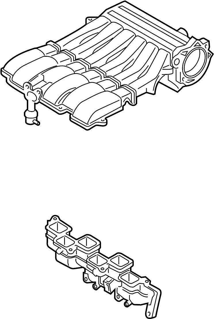 Volkswagen Touareg Engine Intake Manifold. 3.6 LITER