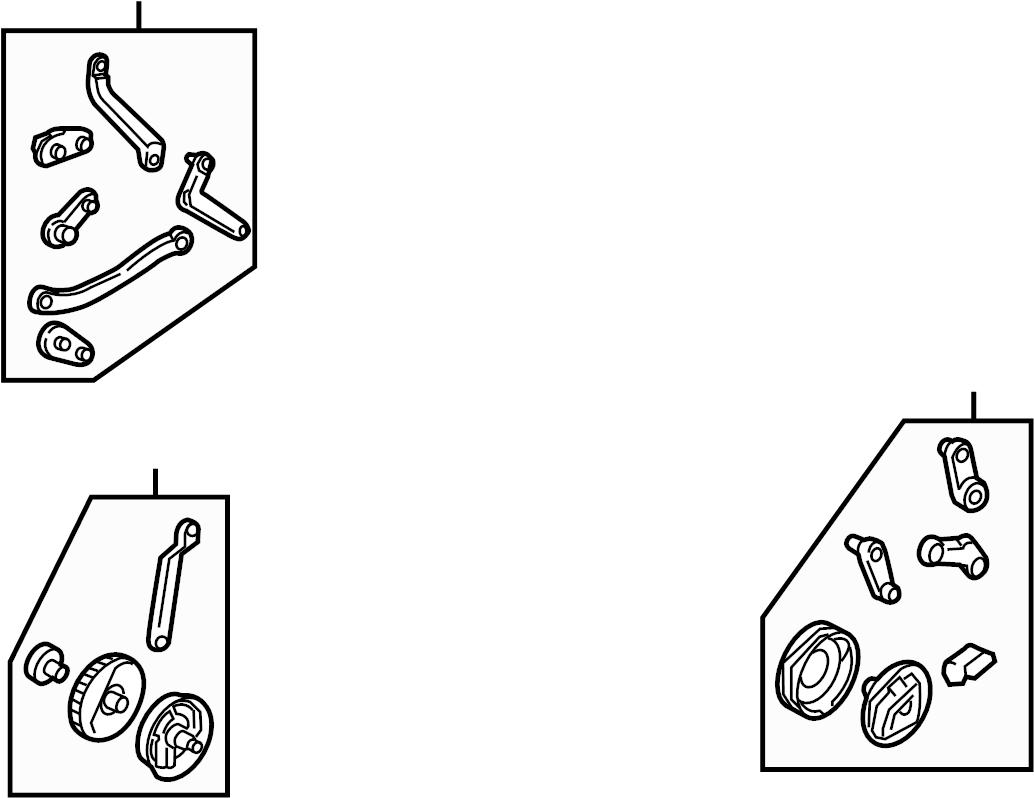 Volkswagen Beetle Lever. HVAC. Mode. Door. Heater. Link