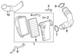 Volkswagen Touareg Air filter. AIRFILTER. Filter element